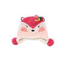 Buy John Lewis Novelty Fox Hat, Pink Online at johnlewis.com