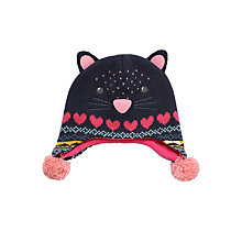Buy John Lewis Novelty Cat Trapper Hat, Navy Online at johnlewis.com