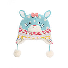 Buy John Lewis Novelty Rabbit Trapper Hat, Aqua Online at johnlewis.com
