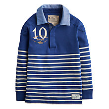 Buy Little Joule Boys' Mischiefs Breton Stripe Rugby Shirt, Navy Online at johnlewis.com