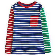 Buy Little Joule Boys' Oscar Long Sleeve T-Shirt, Blue Online at johnlewis.com
