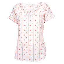 Buy Fat Face Wicklow Embroidered Shell Top, White Online at johnlewis.com