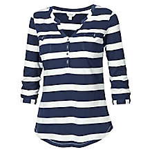 Buy Fat Face Wickham Stripe T-shirt, Taupe Online at johnlewis.com