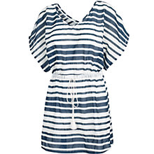 Buy Fat Face Woven Stripe Kaftan, Pink/White Online at johnlewis.com