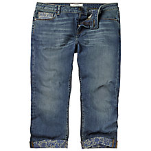 Buy Fat Face Cropped Floral Turn Up Jeans, Denim Online at johnlewis.com