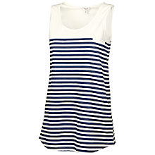 Buy Fat Face Striped Vest Top, Navy/White Online at johnlewis.com