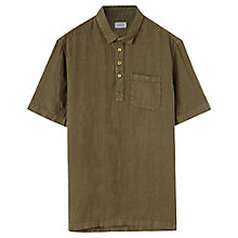 Buy Jigsaw Dyed Linen Short Sleeve Shirt Online at johnlewis.com