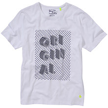 Buy Original Penguin Stack T-Shirt, Bright White Online at johnlewis.com