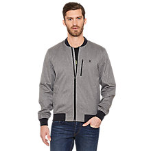 Buy Original Penguin Borg Bomber Jacket, Rain Heather Online at johnlewis.com