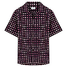 Buy Jigsaw Painted Check Short Sleeve Shirt Online at johnlewis.com