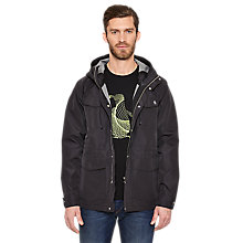Buy Original Penguin Hedley Unlined Parka Jacket, True Black Online at johnlewis.com