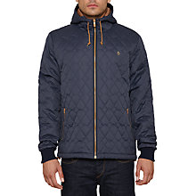 Buy Original Penguin QT Ratner Quilted Bomber Jacket, Dark Sapphire Online at johnlewis.com