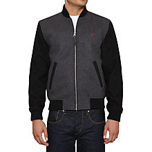 Buy Original Penguin Heroic Mention Bomber Jacket, Dark Steel Heather Online at johnlewis.com