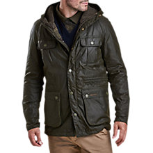 Buy Barbour Brindle Wax Jacket, Fern Online at johnlewis.com