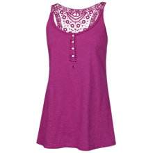 Buy Fat Face Madison Crochet Cotton Cami Top, Berry Zest Online at johnlewis.com