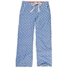 Buy Fat Face Polka Dot Pyjama Bottoms, Chambray Online at johnlewis.com