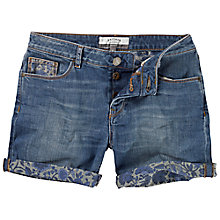Buy Fat Face Floral Printed Turn Up Shorts, Denim Online at johnlewis.com