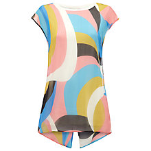 Buy Damsel in a dress Viviana Silk Top, Blue Online at johnlewis.com