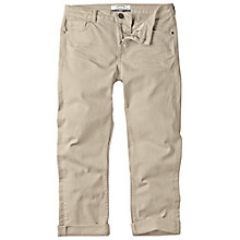 Buy Fat Face Garment Dye Twill Crops Trousers, Ecru Online at johnlewis.com