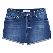 Buy Mango Denim Shorts, Open Blue Online at johnlewis.com