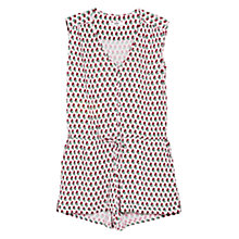 Buy Mango Geometric Print Playsuit, Pastel Pink Online at johnlewis.com