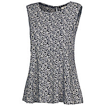 Buy Fat Face Hamble Flower Forest Top, Navy Online at johnlewis.com