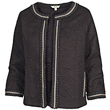 Buy Fat Face Quilted Embroidered Jacket, Phantom Online at johnlewis.com