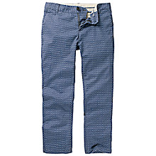 Buy Fat Face Printed Modern Chinos, Navy Online at johnlewis.com