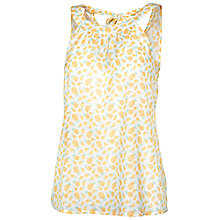 Buy Fat Face Tie Neck Pineapple Cami Top, White Online at johnlewis.com