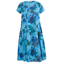 Buy Chesca Floral Print Linen Dress, Blue Online at johnlewis.com