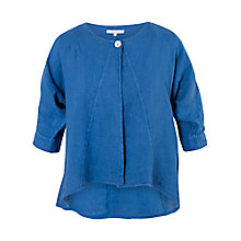 Buy Chesca Linen Jacket, Cobalt Online at johnlewis.com