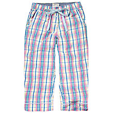 Buy Fat Face Sunbleached Check Crop Trousers, Multi Online at johnlewis.com
