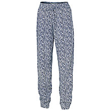 Buy Fat Face Flower Printed Trousers, Navy Online at johnlewis.com