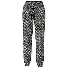 Buy Fat Face Ethnic Print Beach Trousers, Phantom Online at johnlewis.com