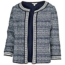 Buy Fat Face Quilted Liana Jacket, Indigo Online at johnlewis.com