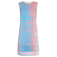 Buy Damsel in a dress Cameleon Print Silk Dress, Pink/Blue Online at johnlewis.com