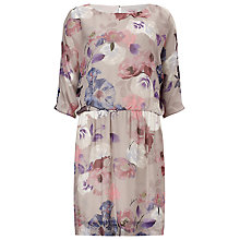 Buy Phase Eight Bergamont Silk Kimono Dress, Lavender Online at johnlewis.com