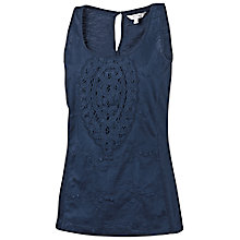 Buy Fat Face Holworth Crochet Tank Top Online at johnlewis.com