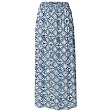 Buy Fat Face Jade Diamond Maxi Skirt, Ivory Online at johnlewis.com