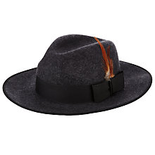 Buy Christys' Madison Fedora Hat, Charcoal Online at johnlewis.com
