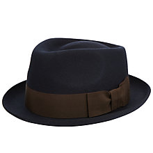 Buy Christys' Whitstable Wool Felted Trilby, Navy Online at johnlewis.com