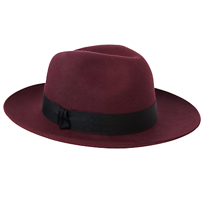 Christys Grosvenor Wool Felt Wide Brim Fedora Hat £65.00 AT vintagedancer.com