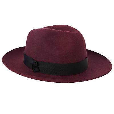 Christys Grosvenor Wool Felt Wide Brim Fedora Hat £65.00 AT vintagedancer.com
