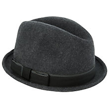 Buy Christys' New Orleans Wool Felt Trilby Hat, Charcoal Online at johnlewis.com