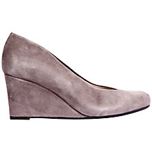 Buy Unisa Linet Wedge Heel Court Shoes, Grey Suede Online at johnlewis.com
