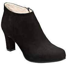 Buy Unisa Oclair Side Zip Mid Heel Ankle Boots, Black Suede Online at johnlewis.com