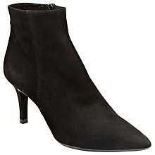 Buy Unisa Kilon Ankle Boots, Black Suede Online at johnlewis.com