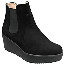 Buy Unisa Fucus Chelsea Ankle Boots, Black Suede Online at johnlewis.com