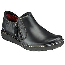 Buy John Lewis Designed for Comfort Yona Side Zip Suede Shoes, Black Online at johnlewis.com