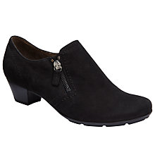 Buy Gabor Pizzicato Nubuck Heeled Loafers, Black Online at johnlewis.com